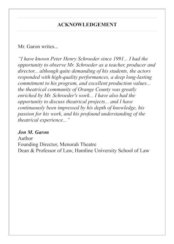 acknowledgement jon garon