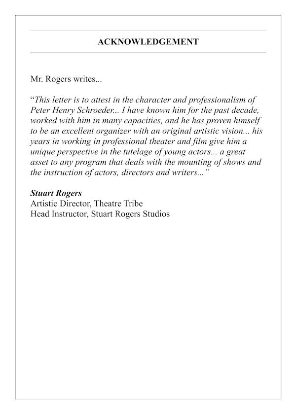 acknowledgement stuart rogers